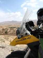 Photo: Before Francois' broken windscreen, in Tunisia