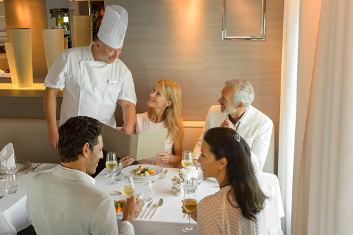 The head chef can assist with menu choices during your luxury cruise on Ponant's Le Lyrial.