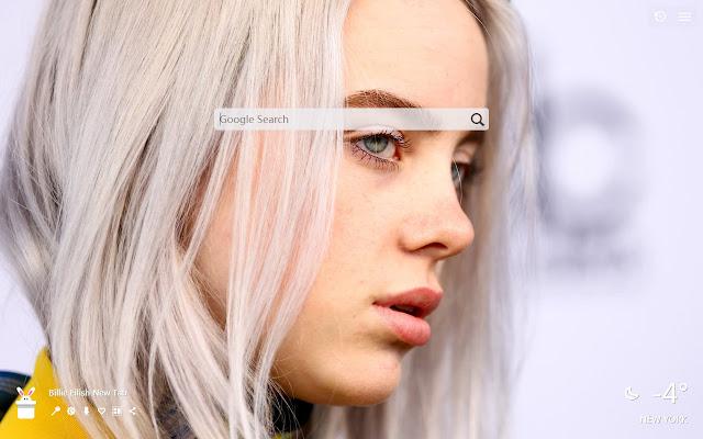 Billie Eilish New Tab, Wallpapers HD