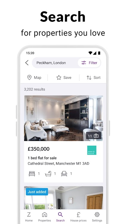 Zoopla Property Search UK - Home to buy & rent – (Android
