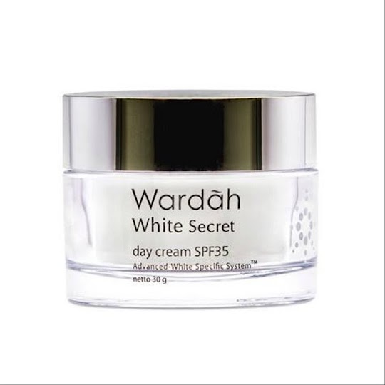 Day Cream WARDAH WHITE SECRET Spf 35, Pa +++ Cream Siang Wardah White Secret 30 gr krim Siang melembabkan memutihkan kulit wajah