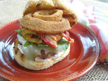 My Grilled Hawaiian Turkey Burger With Pineapple Recipe