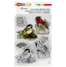 Stampendous Cling Stamp & Die Set 9X5.25 - Holiday Birds