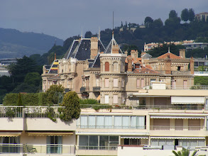 Photo: Cannes is home to a number of opulent 19th century villas, typically with Italian-style or medieval castle themes, and I think we've spotted one here at high zoom.