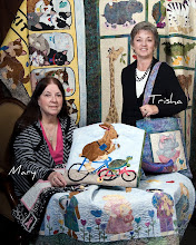 Photo: The creators and partners in Harebrained Happenings quilt pattern company - Mary Eeg and Trisha DellaVella
