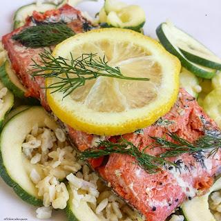 Slow Cooker Lemon & Dill Salmon