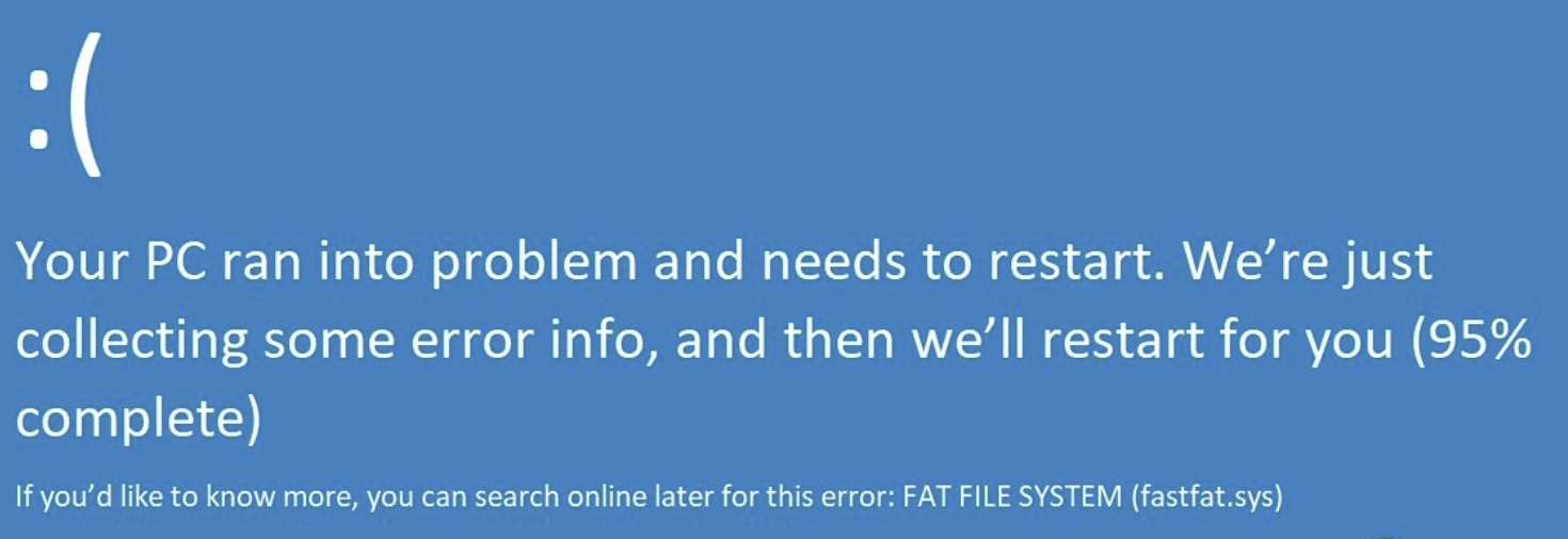 "[Solved] How to Fix BSOD Error ""FAT FILE SYSTEM (fastfat.sys)"" on Windows 10"