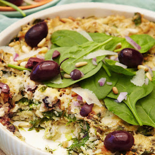 Rice and Spinach Gratin