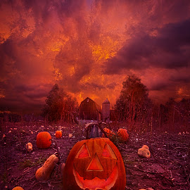 This Is Halloween by Phil Koch - Digital Art Things ( love, trending, sunrise, shadow, rural, endless, hope, fineart, sun, canon, beautiful, unity, pastel, joy, barn, season, farm, popular, arts, meadow, wisconsin, green, fallcolors, dramatic, orange, horizon, sunlight, field, light, peace, earth, shadows, autumn, travel, pumpkin,  )