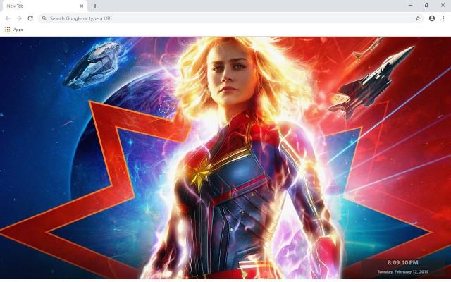 Captain Marvel New Tab Theme