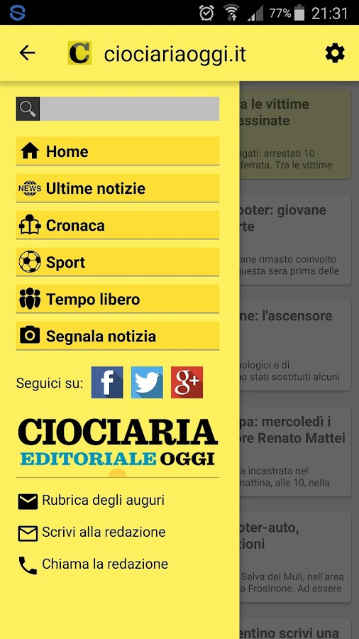 Ciociariaoggi.it- screenshot