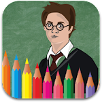 Colouring Book Harry Potter Icon