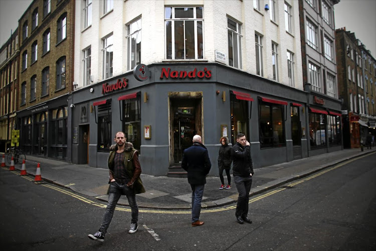 A Nando's restaurant in Soho, London.