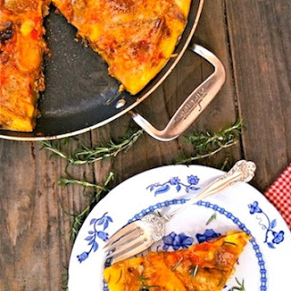 French Fry Frittata Recipe with Chipotle Chorizo Sauce