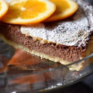 Italian Ricotta Chocolate Tart.