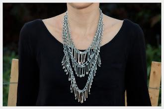 Photo: Triple Chain Statement Necklace DIY Close Up http://www.trinketsinbloom.com/wearable-diy/triple-chain-statement-necklace-diy/