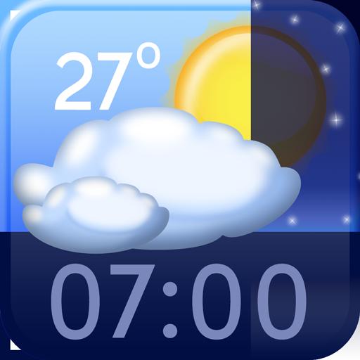 世界时间和天气小工具 生活 App LOGO-硬是要APP