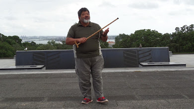 Photo: On our second day in Auckland we visited the Domain region which is situated on a volcano caldera. There we met Prince, a Maori man who talked about his people.
