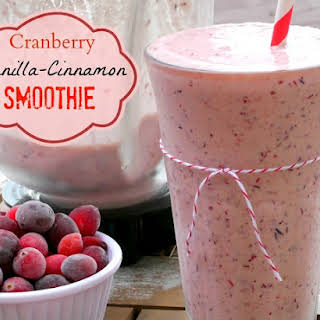 Cranberry Vanilla-Cinnamon Smoothie.