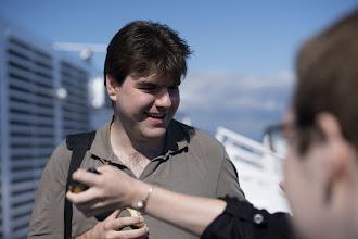 Photo: Alex Vostrov on a Ferry