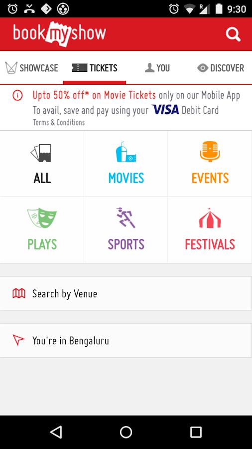 BookMyShow–Movie Tickets,Plays- screenshot