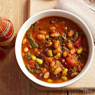 Pumpkin-Kale Calico Bean Stew.