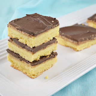 Chocolate Peanut Butter Shortbread Bars.