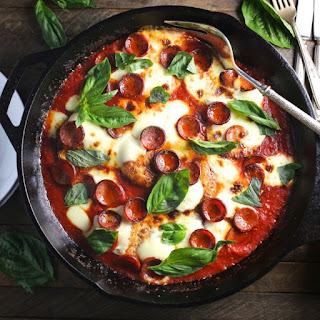 Pizza Chicken (with Pepperoni and Basil) Recipe