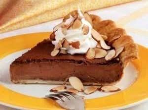 Almond - Fudge Custard Pie