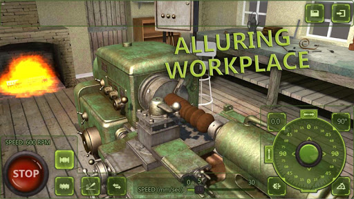 Lathe Machine 3D: Milling & Turning Simulator Game  screenshots 1