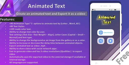 Animated Text Creator - Text Animation video maker 1.5 screenshots 1