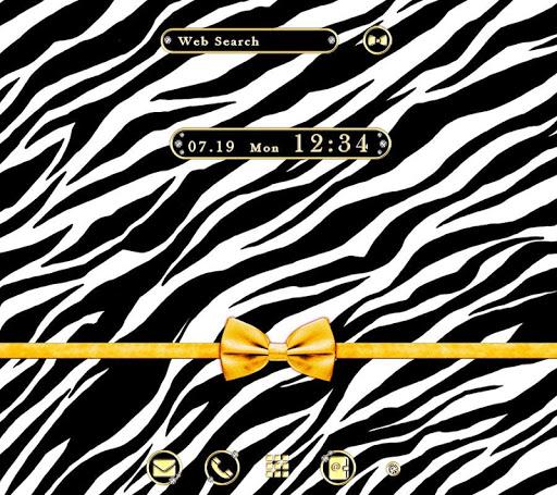 壁纸·图标 斑马与缎带