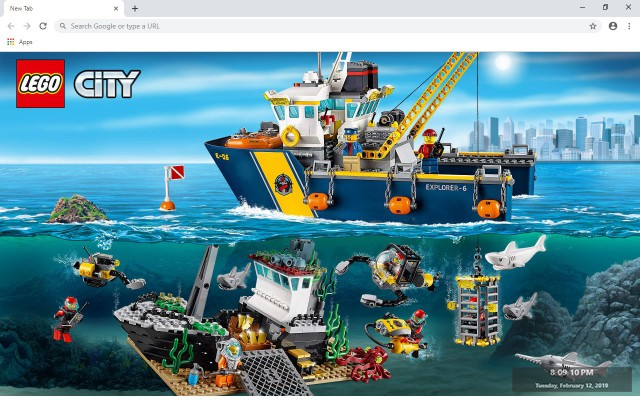 Lego City New Tab & Wallpapers Collection