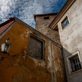 Tallinn Old City Court by Artem Sapegin - Buildings & Architecture Architectural Detail ( estonia, orange, old, court, cityscape, yellow, city, tallinn )