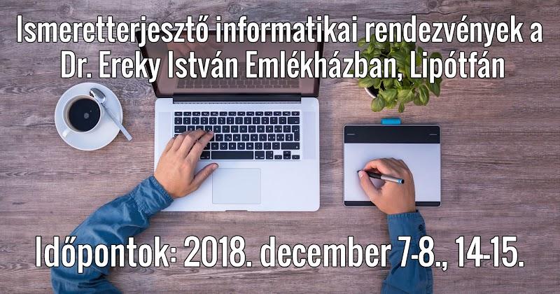 Digitális Jólét Program Pontok Fejlesztése Lipótfán 2018. december 7-8-14-15