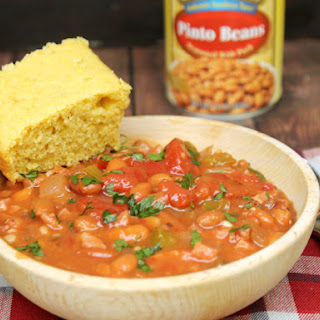 Pinto Beans And Ham With Homemade Buttermilk Cornbread.