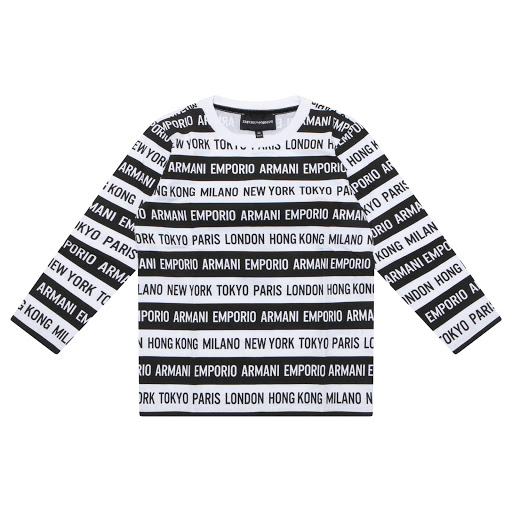 Primary image of Emporio Armani Striped Long Sleeve Top