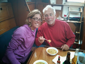 Photo: good soup after a rough day sailing in the North Passage