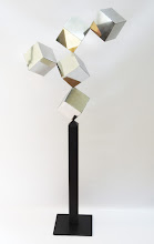 Photo: 30 REFLECTIONS - 66H X 28W X 12D Polished Stainless Steel, Painted Mild Steel, Rear View