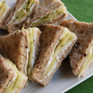 Pernod-Marinated Fennel and Apple Tea Sandwiches