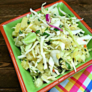 Pineapple Coleslaw Without Mayonnaise Recipes.