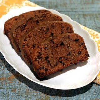 Chocolate Pound Cake with Caramel Icing.