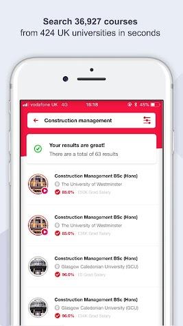 Uni Compare: Degree Courses UK Screenshot
