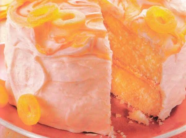 Sour Peach Frosted Peach Cake