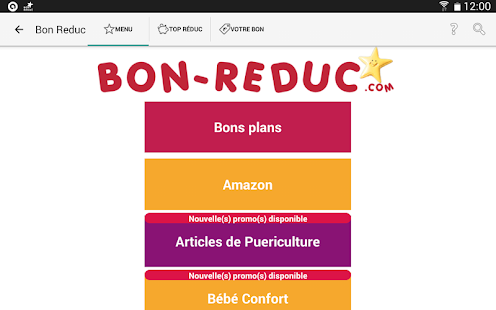 Bon Reduc : code promo et deal- screenshot thumbnail