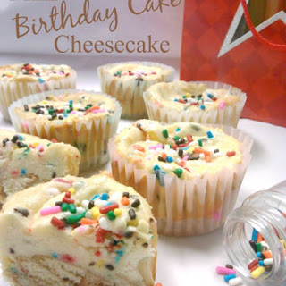 Mini Birthday Cake Cheesecakes – The Perfect Sized Sweet Treat!