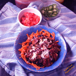 Enchilada Bowls with Sweet Potato Noodles.