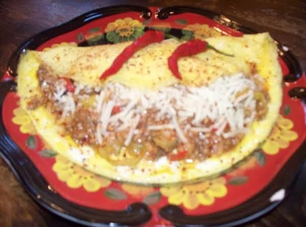 Leftover Taco Omlet Recipe