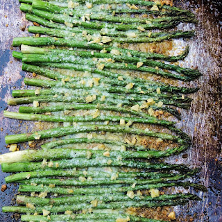 Roasted Asparagus with Garlic and Parmesan.