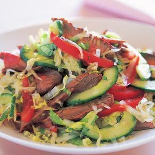 Beef With Green Papaya, Chilli And Coriander Salad